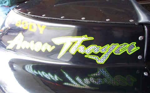 Vehicle Graphics Race Car Lettering Spon
