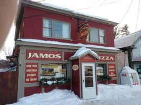 Dimensional Carved Gold Leaf Jamos Pizza