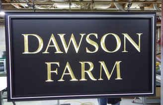 Dimensional Carved Gold Leaf Dawson Farm