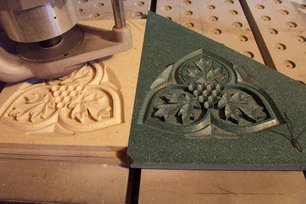 Dimensional Carved Corian Samples 2 tn.J