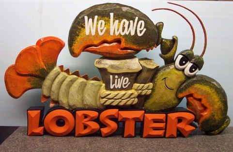 Dimensional Hand Carved Display Lobster