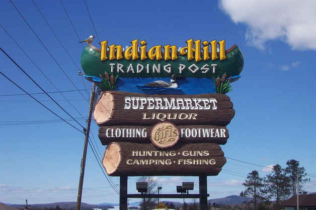 Dimensional Carved Gold Leaf Indian Hill
