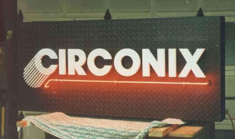 Illuminated Sign Neon Diamond Plate Circ