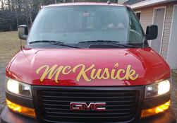 Vehicle Graphics Fleet Lettering McKusic