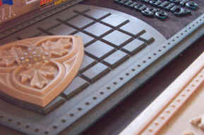 Dimensional Carved Corian Samples 7 tn.J