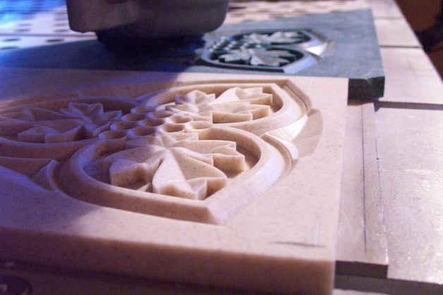 Dimensional Carved Corian Samples 3 tn.J
