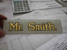 Guilding Gold Leaf Glass Mr Smith 2 tn.J