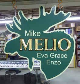 Dimensional Carved Gold Leaf Camp Melio