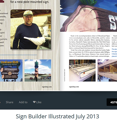 indian hill trading post Sign Builder Illustrated - July 2013