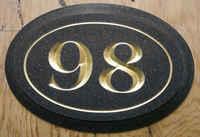 Corian Carved w Gold Leaf Address Plaque