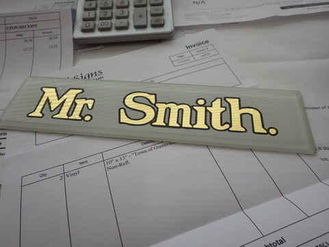 Guilding Gold Leaf Glass Mr Smith 3 tn.J