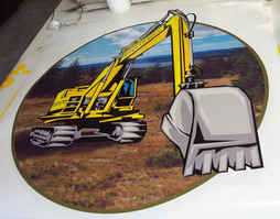 Digital Print Indian Hill Construction t