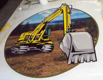 Digital Print Indian Hill Construction t
