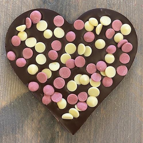 Chocolade hart confetti