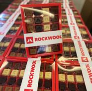 Rockwool logo chocolaatjes