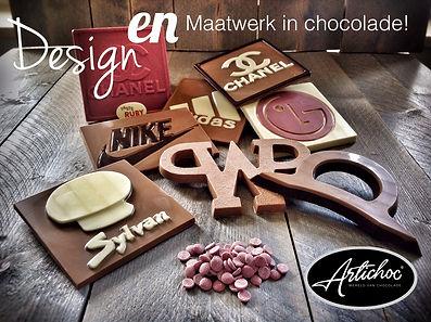 Chocolade logotablet