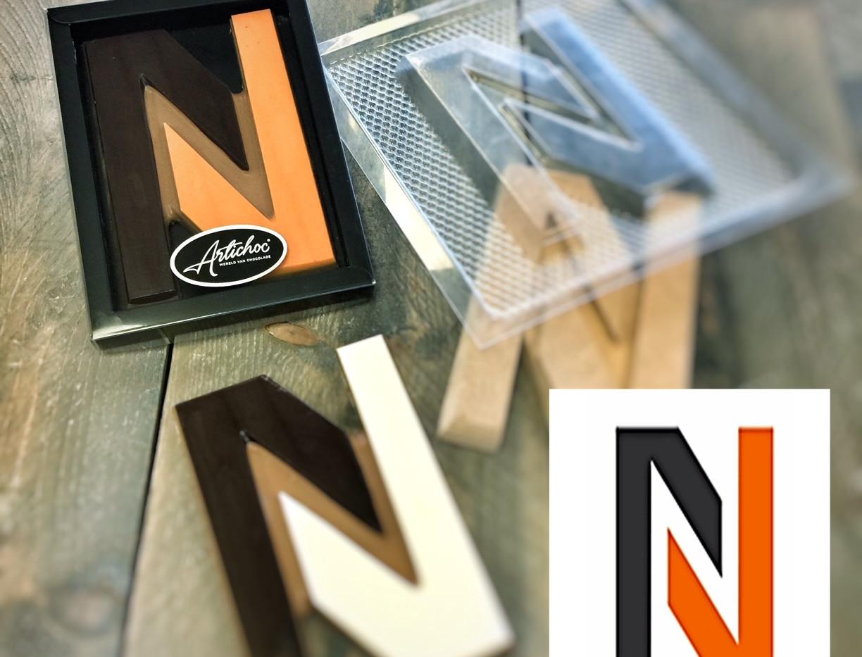 Chocoladeletters in uw eigen ontwerp