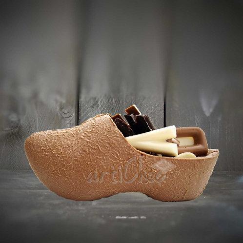 Chocoladeklompje met lettertjes 17 cm