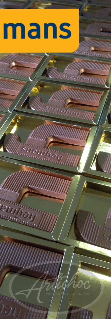 Chocoladeletter Heijmans op maat