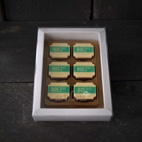 Logobonbons 6 stuks verpakt in luxe doosje