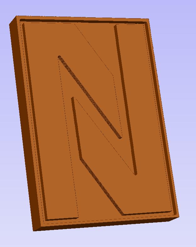 Chocoladeletter N digitaal voorbeeld
