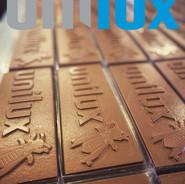 Unilux chocolade logo tablet