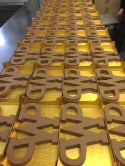 Chocolade logo voor WP Haton