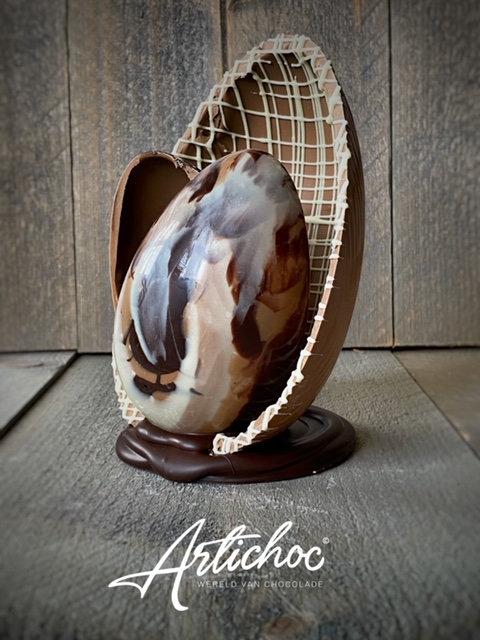 Chocolade art-ei groot