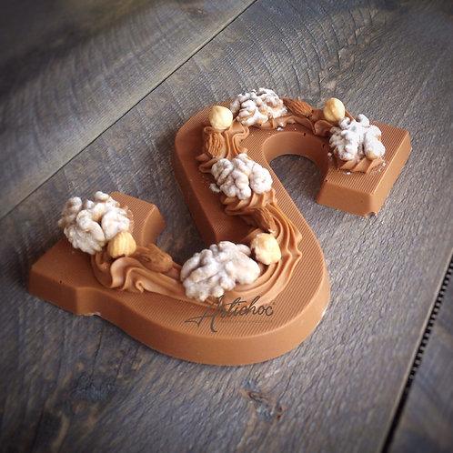 Chocoladeletter Praline gevuld 275 gram