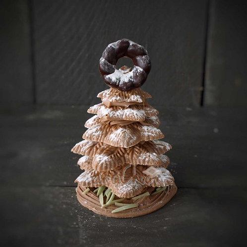 Chocolade kerstboom in koker 200 gram