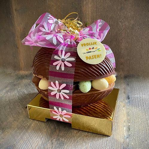 Luxe chocolade paasei 18 cm