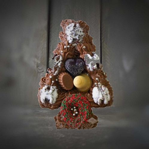 Chocolade kerstboom decoratie 275 gram