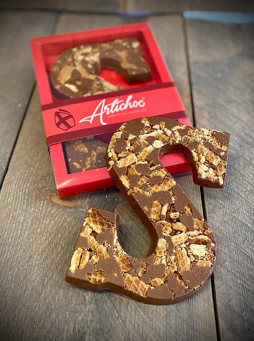 Chocoladeletter stroopwafel 200 gram