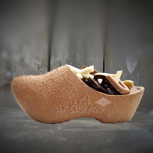 Chocoladeklompje met lettertjes 21 cm