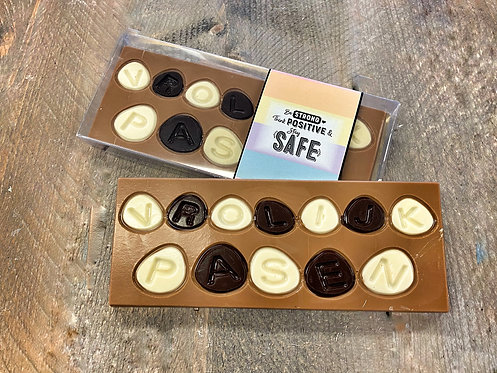 Chocolade tablet vrolijk pasen luxe