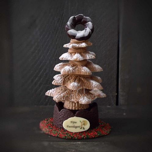 Chocolade kerstboom luxe in koker 250 gram