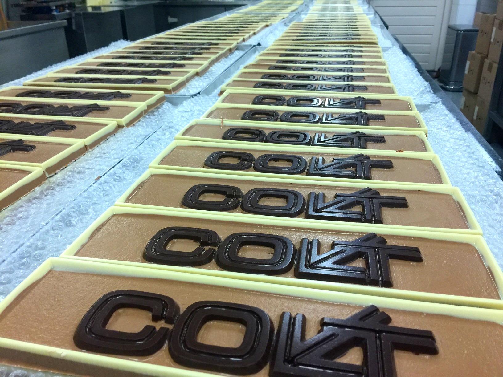 Colt chocolade logo tablet