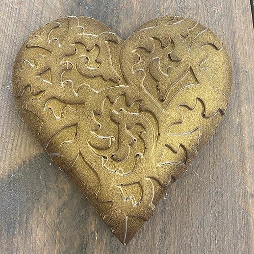 Chocolade hart Gold