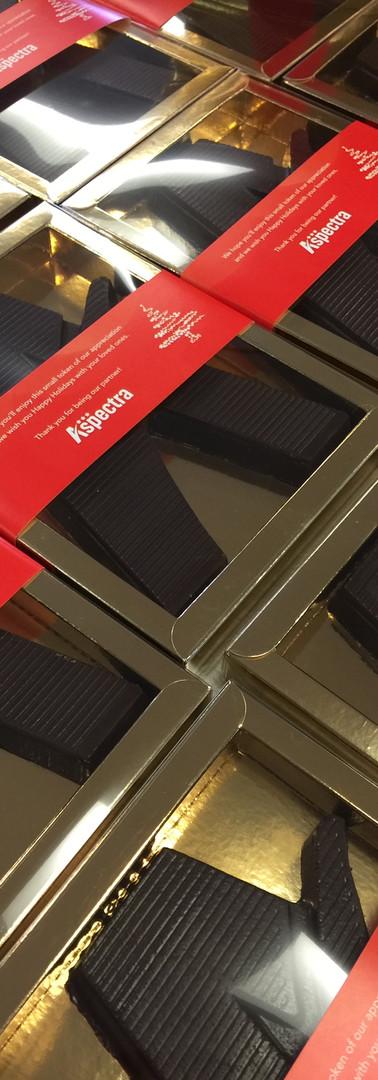Chocoladeletter Aspectra customized