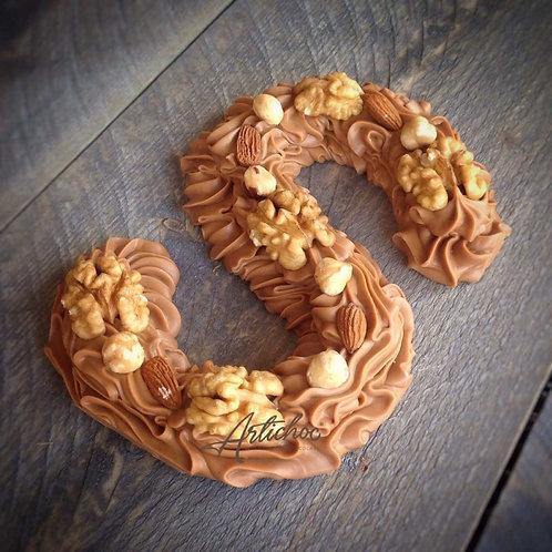 Chocoladeletter Traditioneel decoratie 275 gram