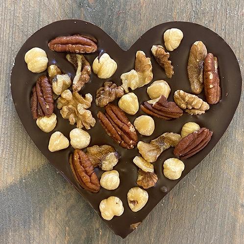 Chocolade hart noten