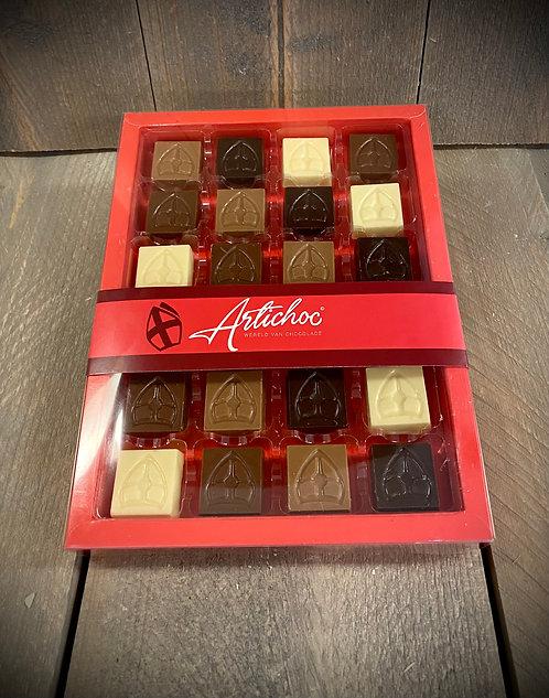 Sint mijter chocolaatjes 24 stuks