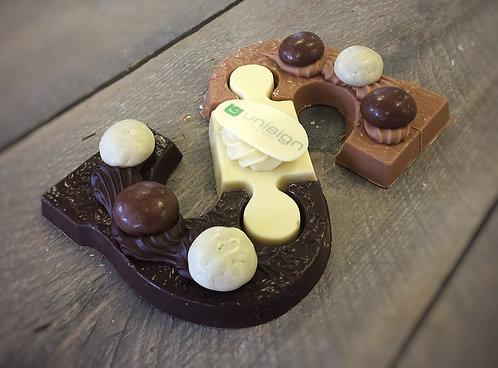 Chocoladeletter tricolore deluxe 250 gram