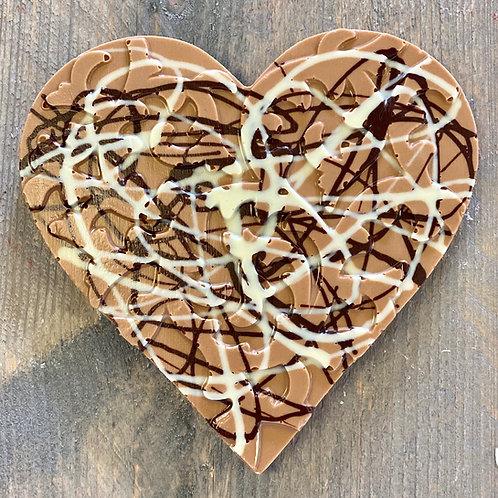 Chocolade hart spaghetti