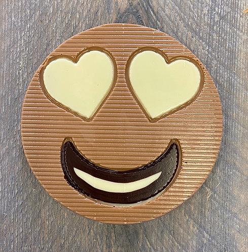 Chocolade smiley hartjes
