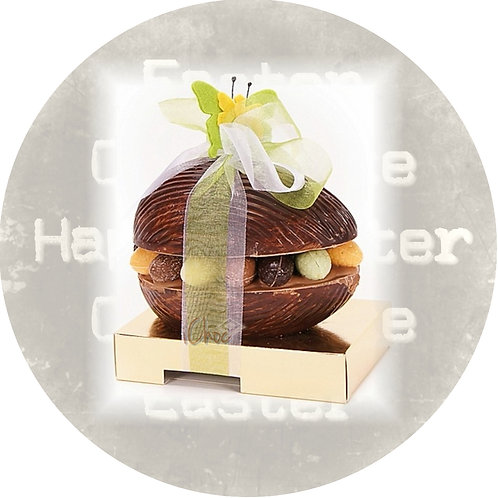 Luxe chocolade paasei 15 cm