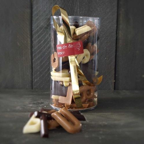 Koker chocolade lettertjes 325 gram
