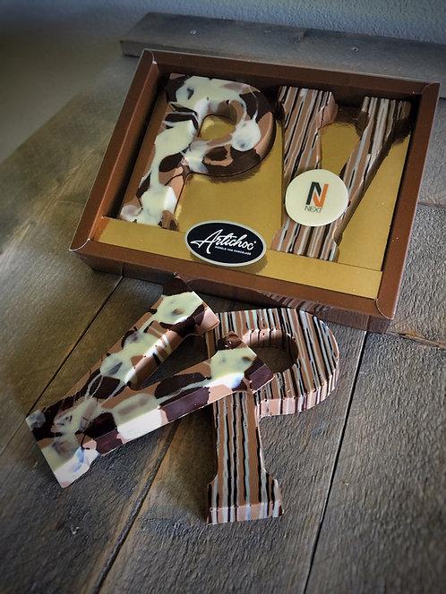 Chocoladeletter dubbel luxe 270 gram