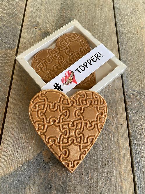 Chocolade hart klein standaard