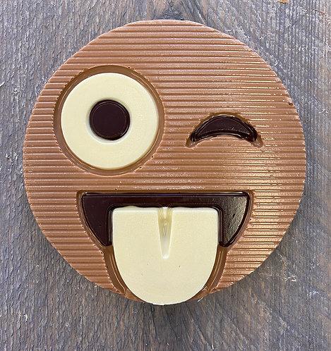 Chocolade smiley knipoog